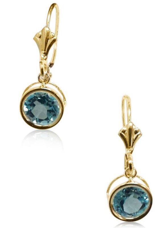 2ff152a8046a 14k Gold Blue Topaz Earrings BTEG022