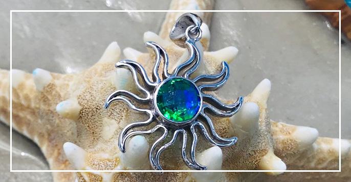 Watercolor Sun Pendant