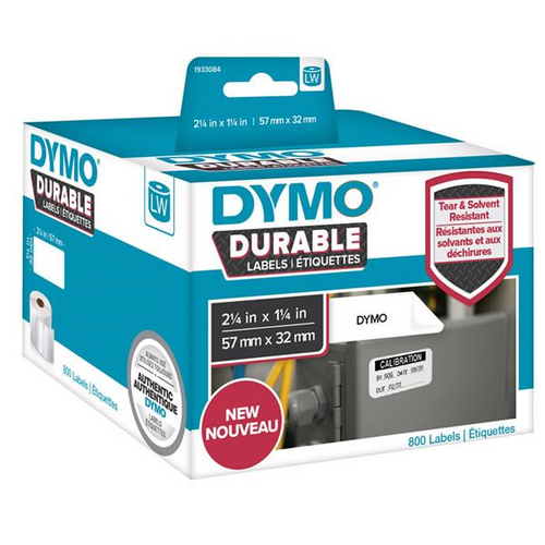 Dymo #1933084 Durable Lw450 Shipping Label White 57mmx32mm Roll Of 800 | DymoOnline