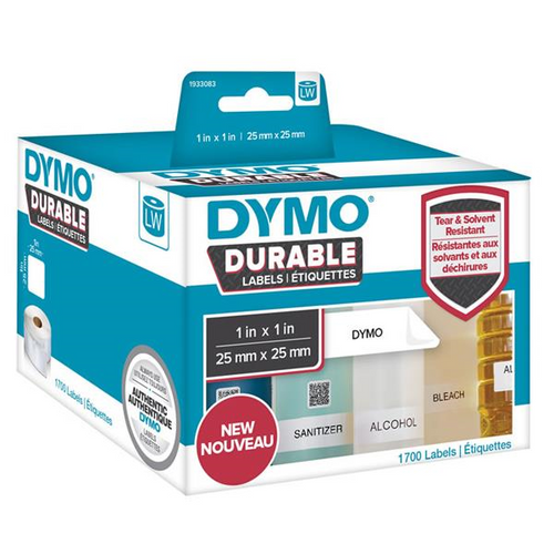 Dymo Durable Lw450 Label Shipping Whiteâ 25mm X 25mm Roll Of 1700