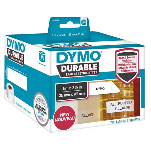 Dymo Durable Lw450 Label Shipping Whiteâ  25mm X 89mm Roll Of 700