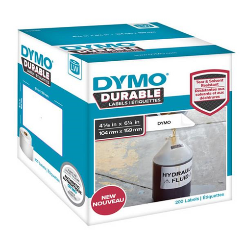 Dymo Durable Lw450 Label Shipping Whiteâ  104mm X 159mm Roll Of 200
