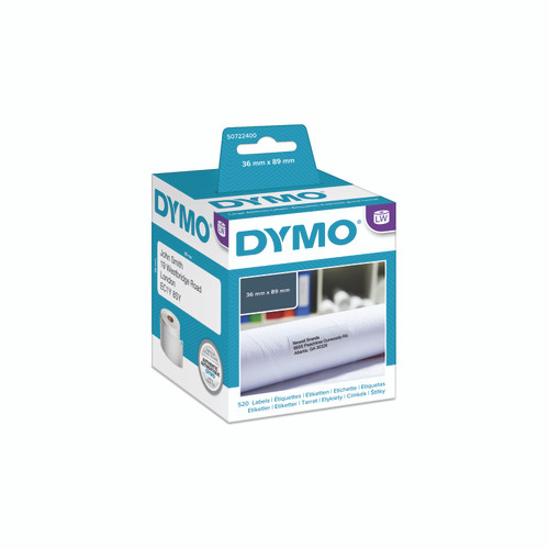 The most popular label is the Dymo 99012 and this is the new dymo packaging that is now blue and white as opposed to green and black.  Same great dymo product.