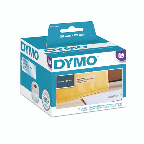 Dymo #99013 / S0722410 Labelwriter Large Address Clear Poly Plastic Labels 36x89mm | DymoOnline