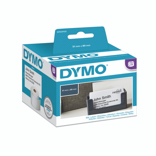 Dymo #30374 / S0929100 Labelwriter Name Badge/Appointment Non-Adhesive Label/Card 51X89mm | DymoOnline