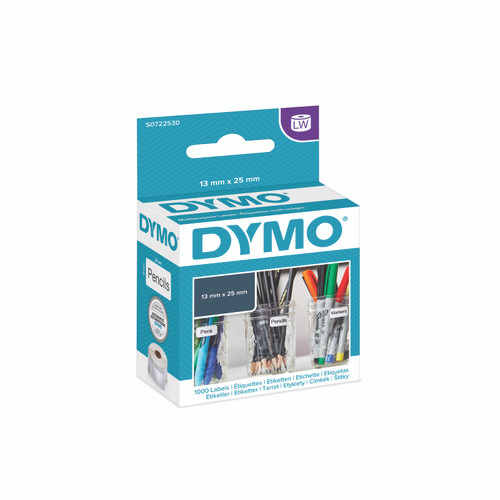 Dymo 11353 or S0722530 is a Multi Purpose label that measures 13 X 25mm.  Blue and white is the new packagaing from dymo, opposed to the black and green.