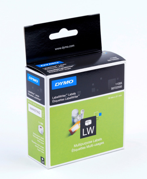 DYMO 11355 / S0722550 LABELWRITER MULTI PURPOSE LABELS 19 X 51MM