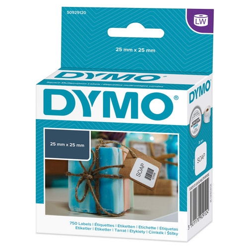 Dymo #30332/ S0929120 Labelwriter Multi Purpose Square Labels 25X25mm | DymoOnline