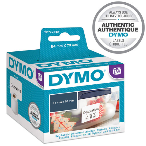 Dymo #99015 / S0722440 Labelwriter Multi Purpose Disk Labels 54x70mm | DymoOnline