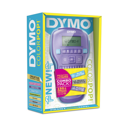 DYMO COLORPOP #2056115 PRINTER QWERTY PURPLE BUNDLE INCLUDES 3 LABEL TAPES