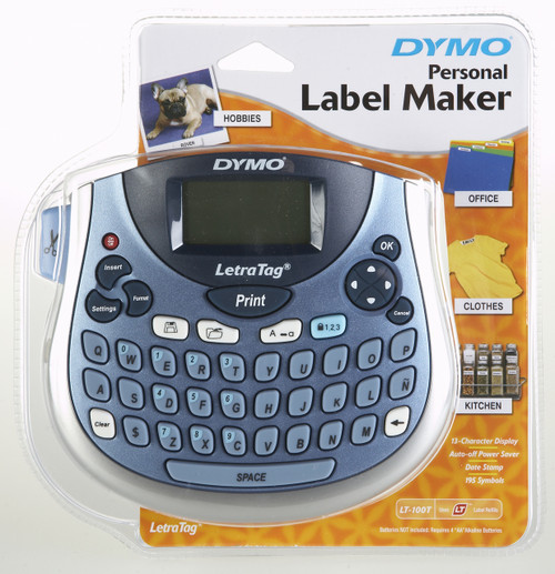 Dymo #58481 Letratag Lt100-T Tabletop Personal Labeling Machine / Label Maker In Blue | DymoOnline