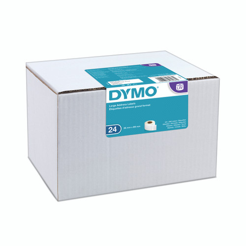A popular bulk option with Dymo labels is the SD99012 label, now named S0722390.  The new packaging is a a teal and white as opposed to black and green.