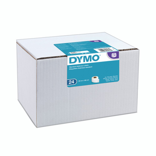 These are the bulk buy dymo label in 99010 or s0722360.  The have the new dymo branding which has moved away from a green/black look to teal/white look.  Save with dymo now by buying bulk.