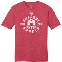 Mason Jar Label Support Your Local Farmer Tee - 400005235436