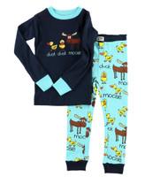 Lazyone Toddler Boy Duck Moose Pj Set - 841654110437