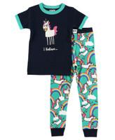 Lazyone Toddler Short Sleeve Unicorn Pj Set - 841654114817