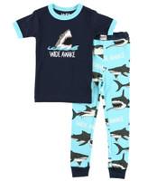 Lazyone Toddler Short Sleeve Wide Awake Pj Set - 841654104078