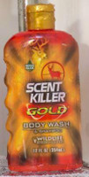 Wildlife Research Scent Killer Gold Body Wash & Shampoo - 12 FL OZ Easy Grip Shower Bottle - 024641012406