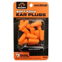 Walkers Soft Foam Neon Ear Plugs - 7 Pair Orange - 888151014608