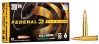 Federal Gold Medal Sierra Matchking 308 Win 155 Grain HPBT 20 Rounds Per Box - GM308M3 - 604544652420