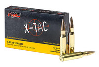 PMC X-Tac 7.62x51mm Nato 147 Grain FMJBT 20 Rounds Per Box - 762X - 741569010153