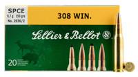Sellier & Bellot 308 Win 180 Grain SP 20 Rounds Per Box - SB308C - 754908510429