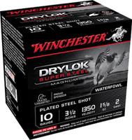 "Winchester Drylok Super Steel High Velocity 10 Gauge 3.5"" 1 5/8 Oz #2 Shot - Box - XSC102 - 020892017108"