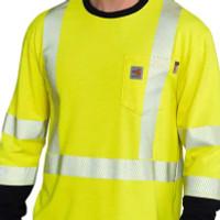 Carhartt Flame-Resistant Hi-Vis Ls T Shirt - 889192679887