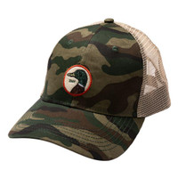Duck Head Circle Patch Trucker Hats - 023794002258