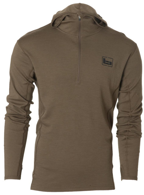 Banded Base Merino Wool Hoodie Pullover 180G or 230G (Multiple Color Options) - 848222033778