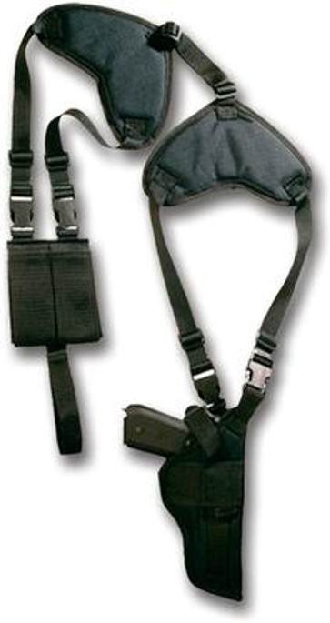 """Bulldog Deluxe Shoulder Harness w/ Holster & Ammo Pouch - Standard Autos w/ 2-4"""" Barrels - 875591001022"""