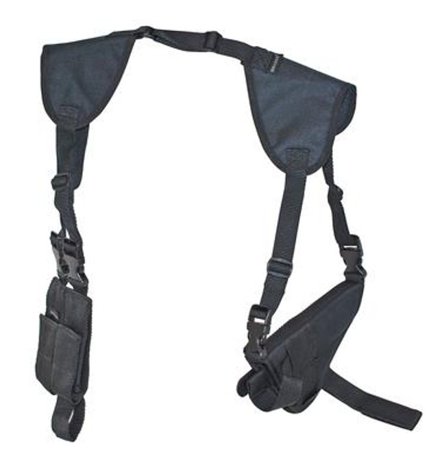 """Bulldog  Deluxe Shoulder Harness w/ Holster & Ammo Pouch - Large Frame Autos w/ 4-4 1/2"""" Barrels - 875591005372"""