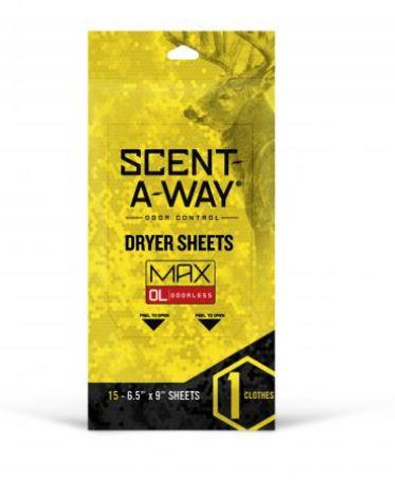 Hunters Specialties Scent-a-way Max Odorless Dryer Sheets - 021291077076