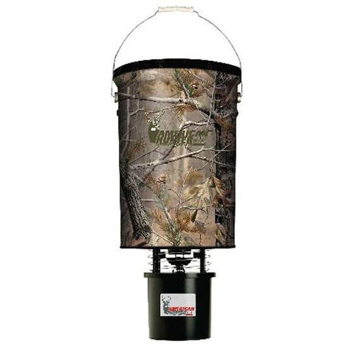 American Hunter Hanging Feeder 50lb Capacity Realtree AP Camo R50PROAP - 758365600013