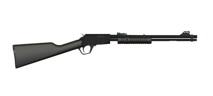 """Rossi RP22181SY Gallery  22 LR 15+1 18"""" Black Synthetic Stock Polished Black Right Hand - 754908229901"""