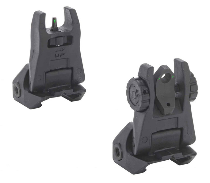 Meprolight USA 404100 Flip Up Backup AR-15 Tritium Green Tritium Black - 810013521665