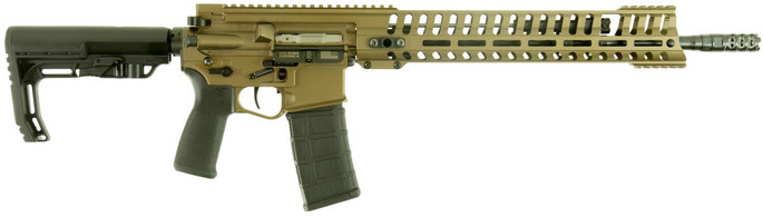 "Patriot Ordnance Factory 01145 P415 Edge 223 Rem,5.56 NATO 18.50"" 30+1 Burnt Bronze 6 Position MFT Stock - 847313011459"