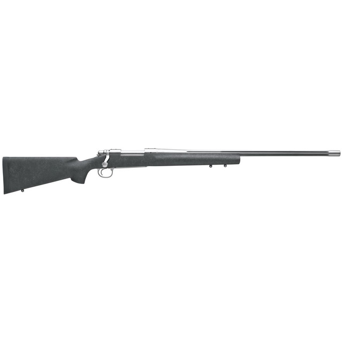 """REM Arms Firearms R27313 Model 700 Sendero SF II 300 Win Mag 3+1 Cap 26"""" Polished Stainless Rec/Barrel Matte Black  Fixed HS Precision Aramid Fiber Stock with Gray Webbing Right Hand (Full Size) - 810"""