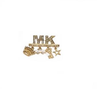 PK206 MK CHARMS GOLD BROOCH