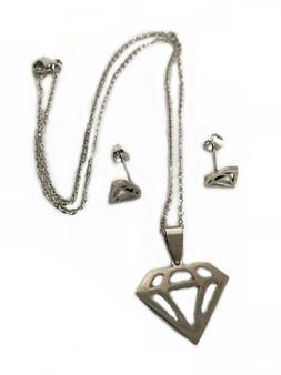 PK595 DIAMOND SET NECKLACE & EARRINGS