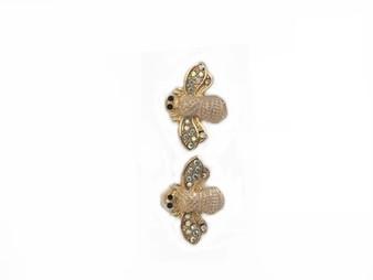 PK404B CRYSTAL WING BEE EARRINGS