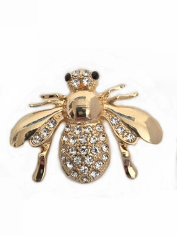 PK356 JUMBO CRYSTAL BEE PIN