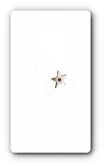 PK063S SAPPHIRE STAR PIN