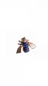 PK331S SAPPHIRE BEE PIN