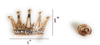 PK009 GOLD CROWN PIN