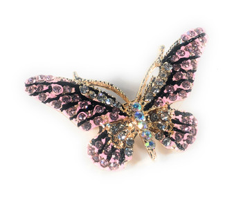 PK329 DIAMOND PINK BUTTERFLY