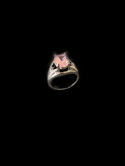 PK730-8 PINK STONE DIAMOND RING size 8