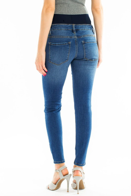 MATERNITY HIGH RISE DENIM