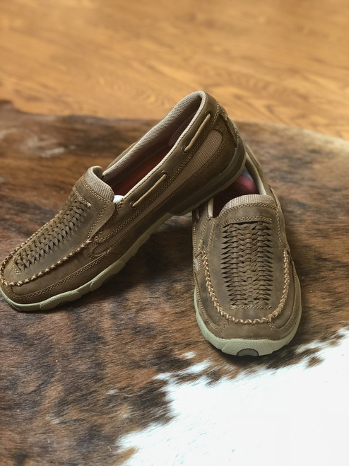 WOMEN'S SLIP ON IN DISTRESSED SADDLE