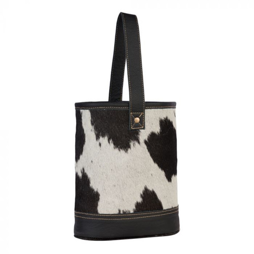 COWHIDE WINE BAG